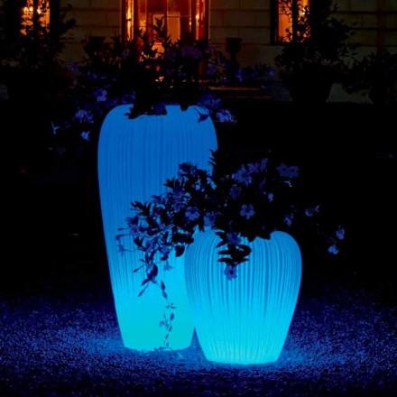 Lysende vase med moderne design med RGBW induktionsbatteri - Skin fra Myyour