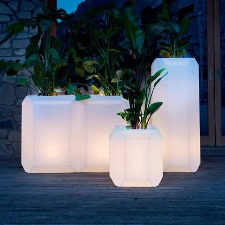 Lysende vase i plastik til udendørs eller indendørs, 3 størrelser, 2 stykker - perle af Myyour