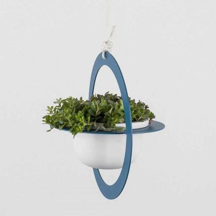 Hængende blomstervase i stål og keramik Fremstillet i Italien - Leotta