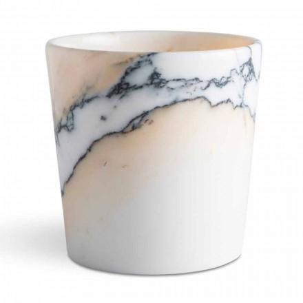 Rund vase i Paonazzo-marmor fremstillet i Italien, 5 stykker - Murlino