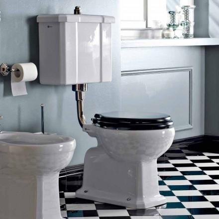 Gulvmonteret toilet med keramisk kassette og fremstillet i Italien sort sæde - Marwa