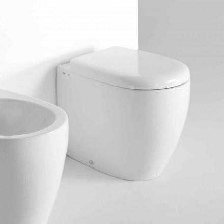 Moderne design gulvstående toilet i farvet keramik fremstillet i Italien - Lauretta