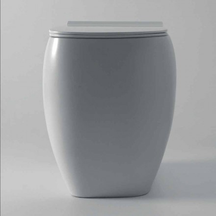 Hvid keramisk toiletvas med moderne design Gais, lavet i Italien