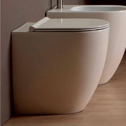 Vase toilet i hvid keramik moderne design Shine Square H50 Uindfattet