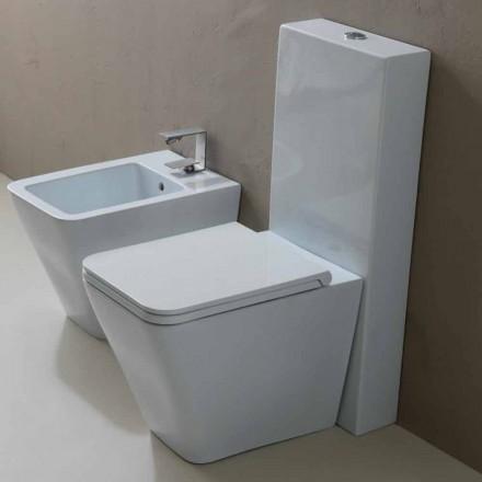 Vase toilet i hvid keramik moderne design Sol Kvadrat, fremstillet i Italien