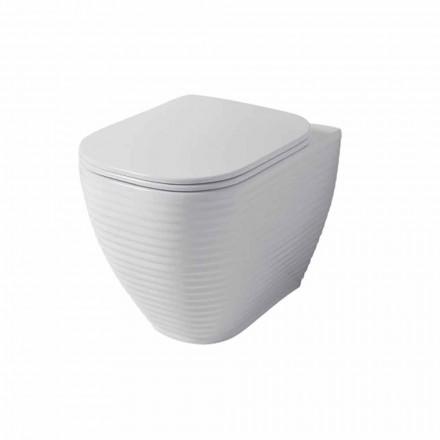 Design toiletvase i hvid eller farvet keramisk Trabia
