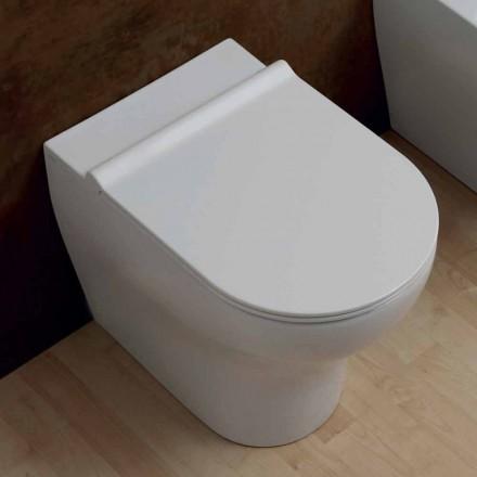 Vase hvid keramik toilet stjerne 54x35cm Made in Italy, moderne design