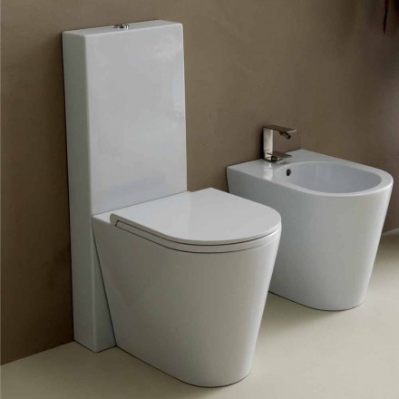 Vase toilet i moderne hvid keramik Sun Runde 57x37 cm Made in Italy