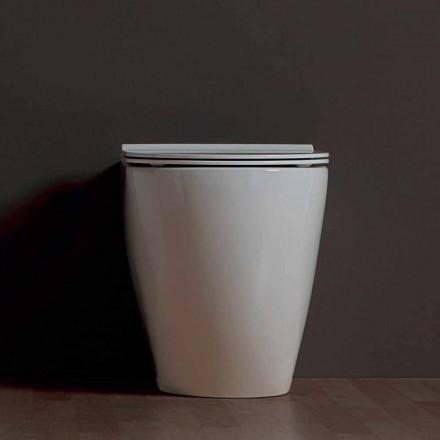 Vase moderne toilet hvid keramik Shine Square Uindfattet Made in Italy