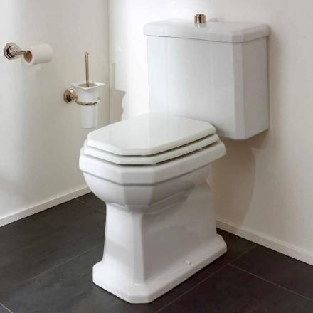 Hvid keramisk toiletkrukke med kassette, fremstillet i Italien - Nausica