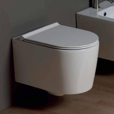 Pot hang toilet i moderne design Shine Square keramik, lavet i Italien