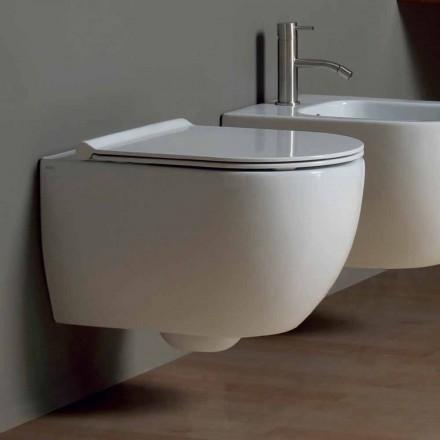 Væg hang toilet i moderne design keramisk stjerne 50x35 Made in Italy