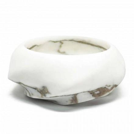 Rundt designbakke i Arabescato-marmor fremstillet i Italien - Casimir