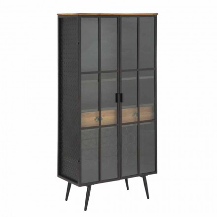 Showcase Living Room Flaskeholder i jern og moderne grantræ - Tillie