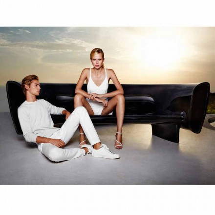 Vondom Bum Bum moderne design sort lakeret have sofa