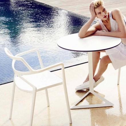 Vondom Delta moderne design polypropylen have stol, 4 stykker