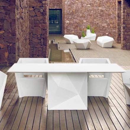 Vondom Faz hvidlakeret havebord L200xP100cm design
