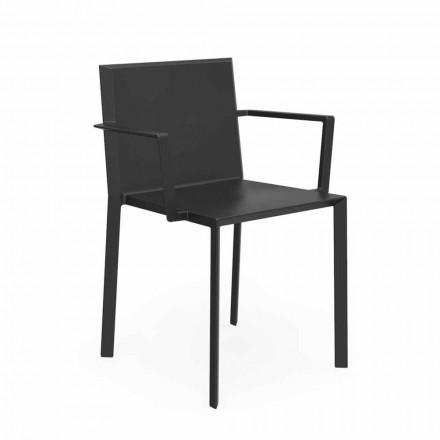 Vondom Quartz stol med designstole armlæn, L52xD57xH79cm, 4 stykker