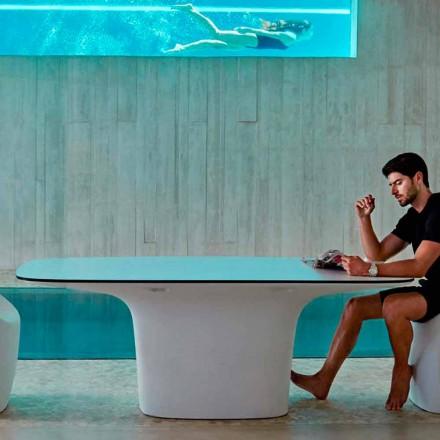 Vondom Ufo hvid designer udendørs bord L200xP100 cm