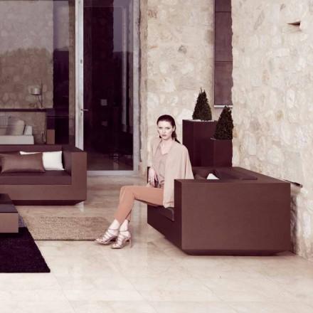 Vondom Vela moderne haven lænestol i bronze lakeret polyethylen