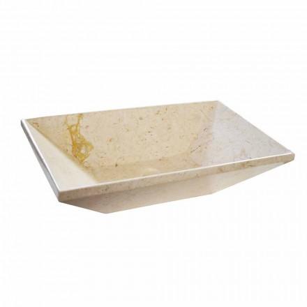 Wok bordtæppe i design marmor, trapezformet form